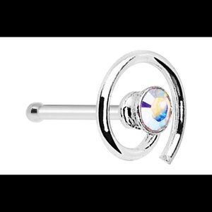 Jewelry - .925 Swarovski Iridescent Nose Bone/Ring